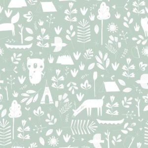 babykamer behang groen dieren