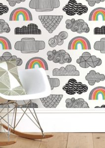 regenboog behang kinderkamer babykamer